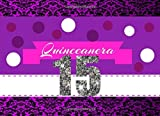 Quinceañera Guest Book: Purple designed Quinceanera Party Guestbook   Quince Memory Keepsake for age 15 Party   Record Over 100 Comments & Names: ... & Names  quinceanera recuerdos keepsake