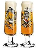 Dekomiro Ritzenhoff Beer Bierglas Frühling 2020 2er Set von Tobias Tietchen Leuchtturm & Flaschenpost mit Spülmittel