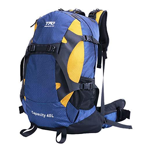 External Frame Hiking Backpack 40L Waterproof Rain Cover Lightweight