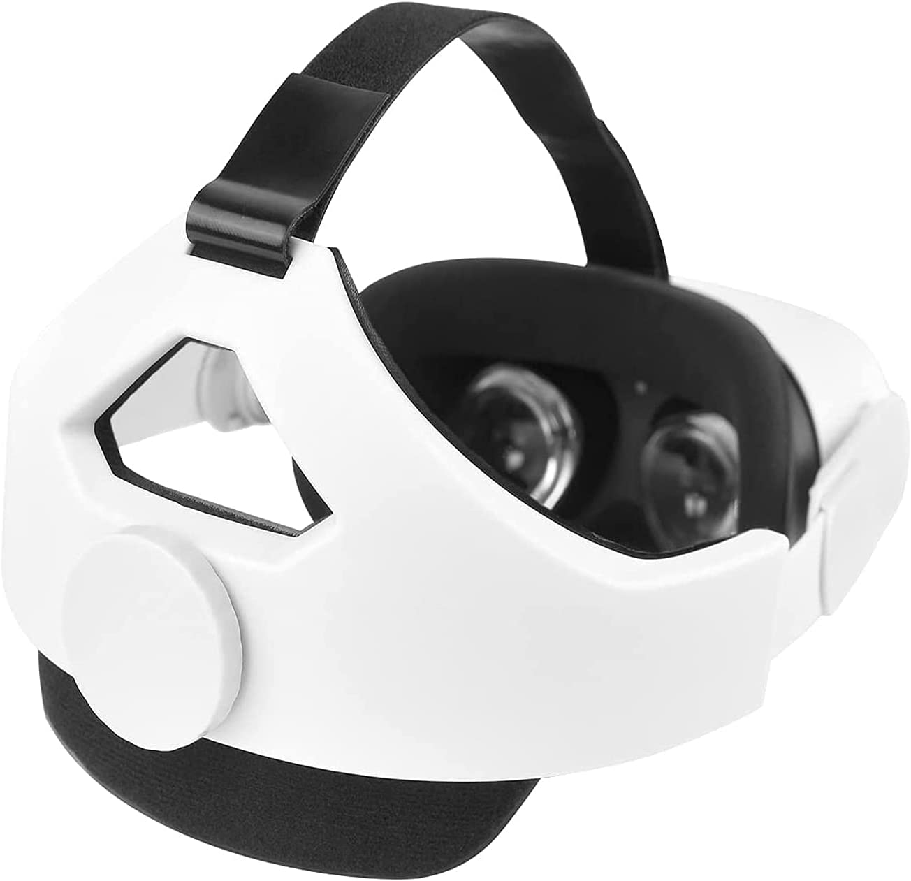 Adjustable Head Trap for Oculus Quest 2 with Head Cushion, Replacement for Elite Strap Comfortable Protective Head Strap Reduce Pressure(White)