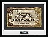 Harry Potter 1art1 Fahrkarte London Nach Hogwarts Gerahmtes