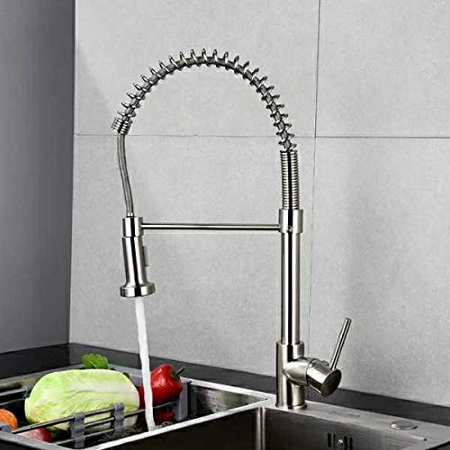 Kitchen Faucet All Copper Spring redary Faucet Dish Basin Waterproof Flower Bubbler Faucet Copper Drawing