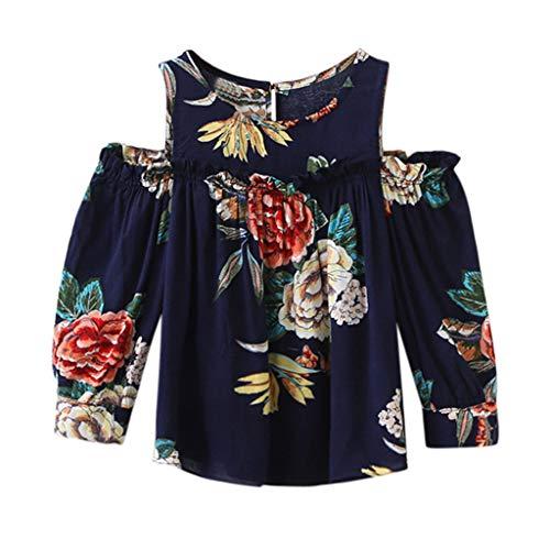 Cuteelf Mädchen Langarm Kind Baby Mädchen Kleidung Blumendruck Liebsten T-Shirt Shirt Top Mädchen Blumen Gedruckt Ohren Liebsten Shirts Tops Süß und Bequem Wild