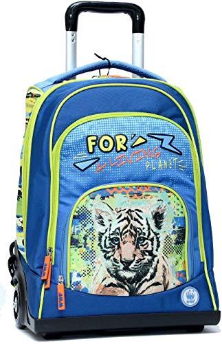 Franco Cosimo Panini Editore - WWF Boy Zaino Organizzato con Trolley (Azzurro)