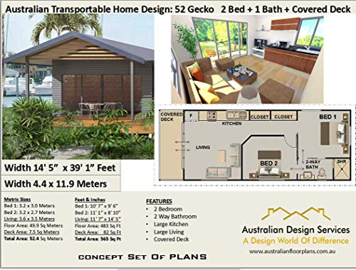 Granny Flat House Plans 2 Bedroom Design 59 Gecko Full Architectural Concept Home Plans Includes Detailed Floor Plan And Elevation Plans 2 Bedroom House Plans Book 52 English Edition Ebook Morris