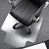 Floortex Polycarbonate Chair Mat with Lip 48' x 53' for Plush Pile Carpets