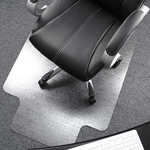Floortex Cleartex UltiMat Polycarbonate Chair Mat for Low/Medium Pile Carpets up to 1/2' Thick, 35' x 47', Rectangular with Lip, Clear (AFCRLM35047)