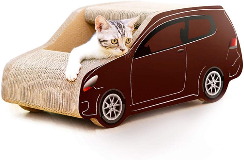 Wanguo Forniture per Animali Domestici lettiera per Gatti SUV Forma Auto autota ondulata Cat Scratch tavola Artiglio Giocattolo Artiglio Moda classeica Ecologica Senza formaldeide