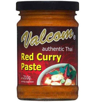 Valcom Rote Curry-Paste 210gm