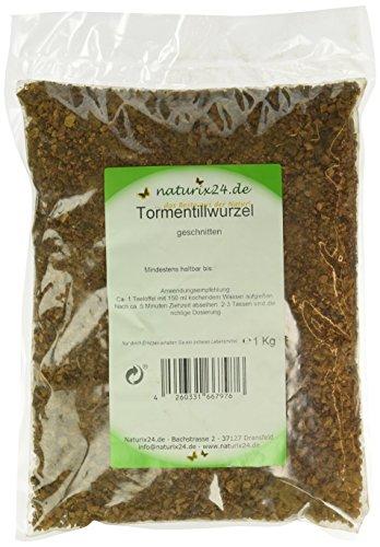 Naturix24 Tormentillwurzel geschnitten – Beutel, 1er Pack (1 x 1 kg)