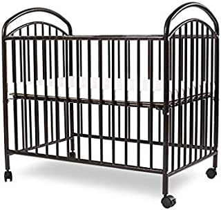 LA Baby Mini/Portable Crib, Black