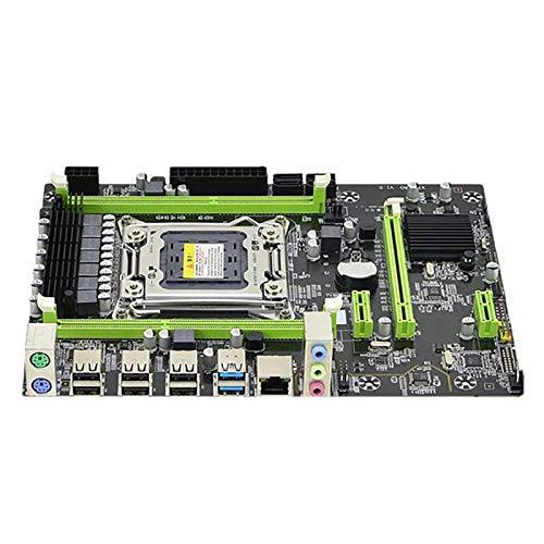 Viudecce Placa Base X79 Nueva LGA 2011 Pin DDR3 32G S-ATA II ECC Memoria Compatible con E52680 Computadora de Escritorio de Doble Canal