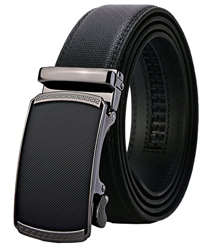 """Lavemi Men's Real Leather Ratchet Dress Belt with Automatic Buckle,Elegant Gift Box(55-0191 52"""")"""
