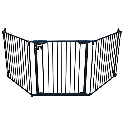 Cardinal Gates XpandaGate, Black: Baby Gate for Stairs, Doorways, and Hallways   The Width is 100 inches for Extra Wide Openings, Works Well as a Indoor Pet Fence & Extensions are Available