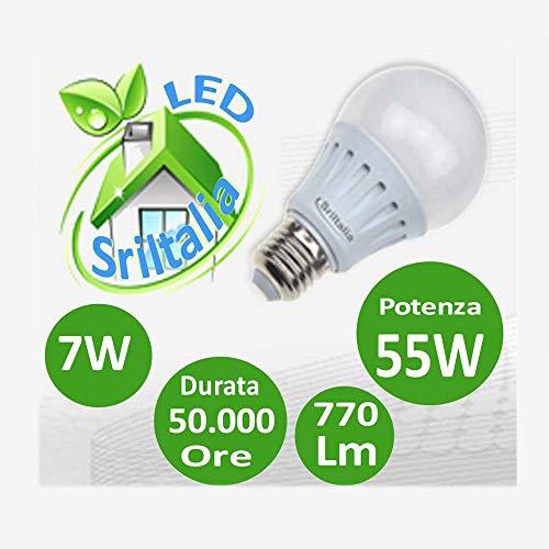 Sricam Italia ObaSecurity LED-lampen, koud licht, 6500 K, E27, 7 W, wit, u27