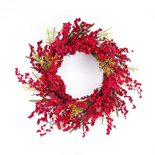 Lubao 24' Christmas Garland Fall Berry Wreath Artificial Wreaths Decor for Front Door, Autumn Halloween Home Wedding Party Holiday Thanksgiving Day