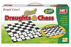 2 traditional games supersized for the garden A great way to spend some time outdoors and have some fun Get involved with jumbo versions of the classic 2 player games The game includes black and white interlocking squares that form the giant board, a...