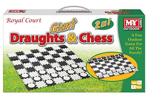 KandyToys Juego de ajedrez y borradores Gigantes Impermeables para jardín