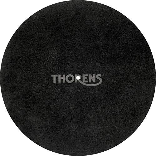 Thorens Leder Auflagematte schwarz