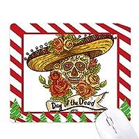 死者のソンブレロシュガースカルメキシコ日 ゴムクリスマスキャンディマウスパッド