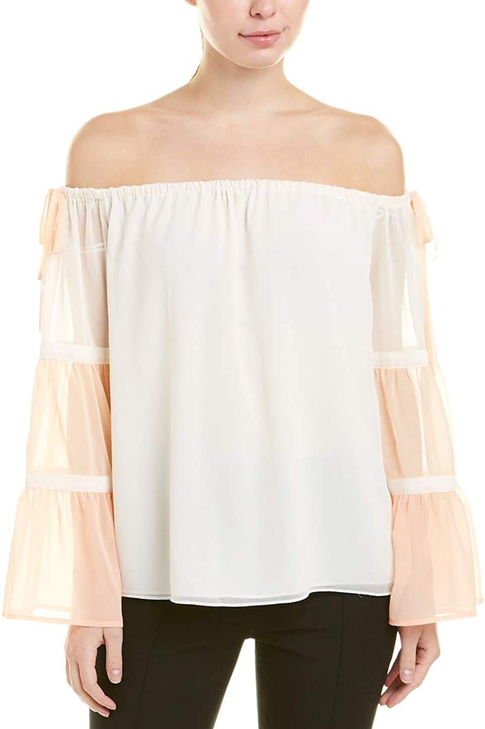 1.STATE Womens OffTheShoulder Bell Sleeve Blouse