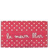 Laroom Felpudo la meva llar Rosa, Pink, 40x70xH1,8cm