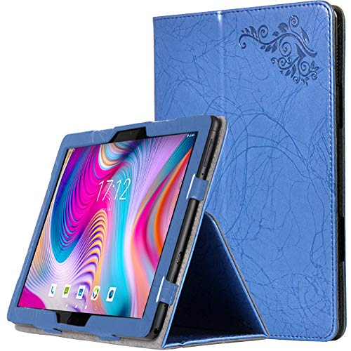Wookfiss Funda Carcasa para Blackview Tab8 10.1, Ultra Slim Ligero Plegable Smart Cover Case PU Protectora Carcasa para Blackview Tab8 10.1 (Auto Sueño/Estela) Azul