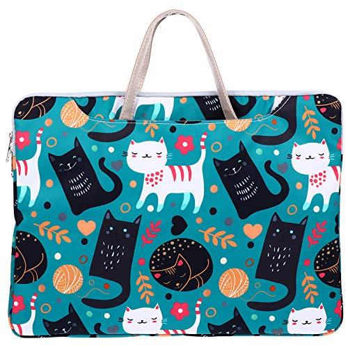LUOZZY Bolsa para notebook com desenho animado bolsa para computador feminina (estampa de gato)