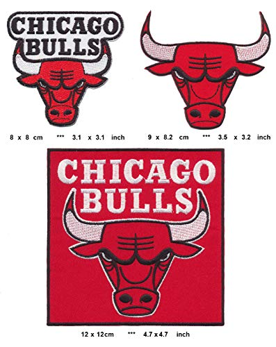 RG20 Chicago Bulls Aufnäher Patches Bügelbild 3 Stück Basketball NBA USA