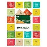 Onlyleaf 100% Natural Immunity Boosting Green Tea Sampler Tea Gift, 20 Pyramid Tea Bags of 10...