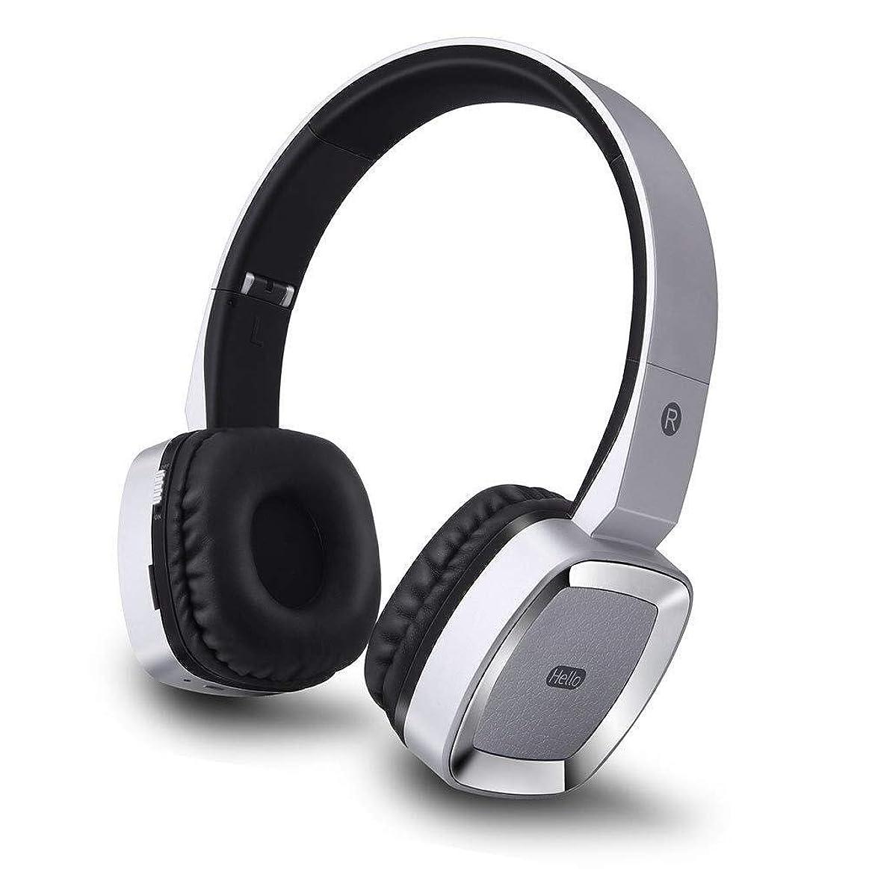 盆地酔ったカヌースポーツBluetoothヘッドセット - スマートワイヤレスステレオヘッドフォン、MP3ヘッドセット、対応携帯電話タブレットPC、その他のデバイス (Color : Silver)