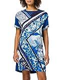 Desigual Vest_Solimar Vestido Casual, Azul, XL para Mujer