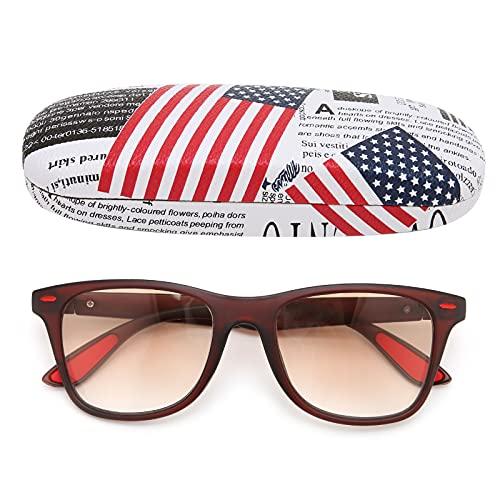 Gafas De Lectura Para Hombres Y Mujeres, Gafas De Lectura Unisex Para Playa Al Aire Libre - Bloqueo De Luz Azul, Antideslumbrante UV(+250)