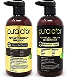 PURA D'OR Advanced Therapy System Shampoo & Conditioner - Increases Volume, Strength and Shine, No...