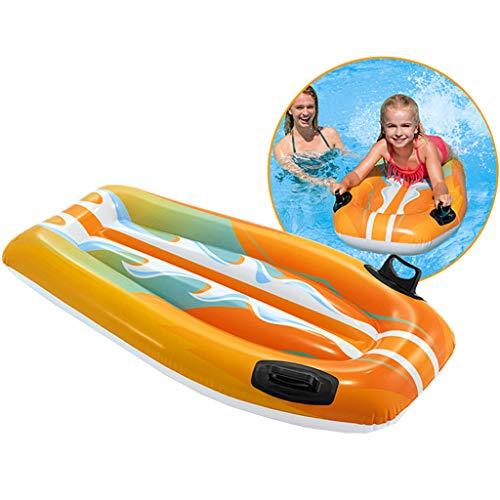 Tragbares Aufblasbares Wasser Schwimmbett Schwimmende Reihe, Faltbares Erwachsenes Kinderschwimmbad Hovercraft Surfing Pedal, Aufblasbares Wasserspielzeug Wasser Hängematte Wasserbett Wassersofa Was