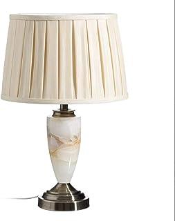 Lámpara de mesa clásica de mármol y de metal dorada de 48 cm - LOLAhome