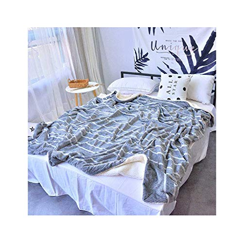 Double Layer Soft Baby Thick Winter Warm Fleece Blanket Sofa Home Plaid Baby Bedding Comforter Kids Swaddle Bathing Wraps,H,200X230CM-N-150cmX200CM