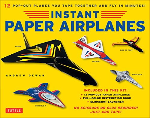 Instant Paper Airplanes Ebook: 12 Printable Airplanes You Tape Together and Fly! (English Edition)
