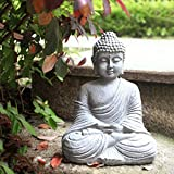 SUYUDD Estatua De Buda Inicio Hut Adorno De Jardín Grande Gigante Buda Sentado Al Aire Libre Cubierta Estatua Zen De Habitaciones Decoración