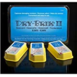 Dry-Brik® II Desiccant Blocks - 3 Blocks (1 Pack of 3 Blocks)  Replacement Moisture Absorbing Block for the Global II and Zephyr by Dry & Store   Hearing Device Dehumidifiers