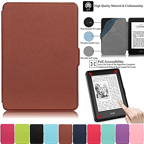 REASUN Case for Kindle Paperwhite, PU Leather Case with [Auto Sleep/Wake] Smart Magnetic Case for Kindle Paperwhite 1 2 3 (Fits All 2012, 2013, 2015 and 2016 Versions), Brown