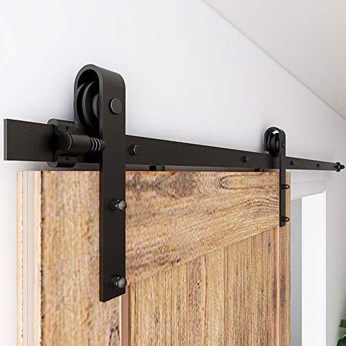 CCJH Juego de herrajes para puerta corredera de 183 cm (6 FT) para puerta corredera