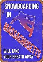 2個 20*30CMメタルサイン-マサチューセッツ州のスノーボードで息を呑む