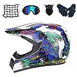 NKFDLY - Casco de moto infantil para motocross, con gafas (5 unidades) (L)
