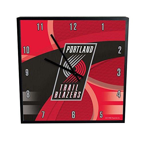 The Memory Company NBA Portland Trail Blazers Offizielle Karbonfaser-Uhr, quadratisch, Einheitsgröße, Mehrfarbig
