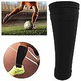 Voluxe Calcetines de fútbol para entrenamiento de fútbol, color negro, espinilleras para adolescentes, para llevar más energía a tus pies para entrenamiento de fútbol (adulto/L)