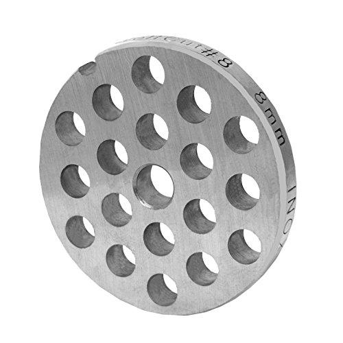 WolfCut INOX Lochscheibe Gr. 8-8,0 MM Bohrung - für Fleischwolf Jupiter - Bosch - Alexanderwerk