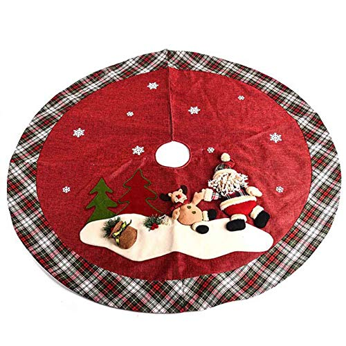 Cxssxling Christmas Tree Skirt Decoration Foot Cover Christmas Tree Skirt Tree Base Cover for Christmas Decorations