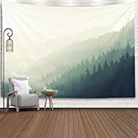 GOOESINGタペストリ居間/寝室のためのー壁の芸術霧の森ファッショナブルなタペストリー壁掛け装飾