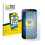 2X BROTECT HD Clear Bildschirmschutz Schutzfolie für Wiko Darknight (kristallklar, extrem Kratzfest, schmutzabweisend)